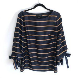 Striped Banana Republic Bell Sleeve Blouse